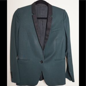 The Kooples Wool Blazer Green / Black FR 36 (US 4)